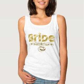Elegante Goldbraut-Buchstaben und Hochzeits-Bänder Tank Top