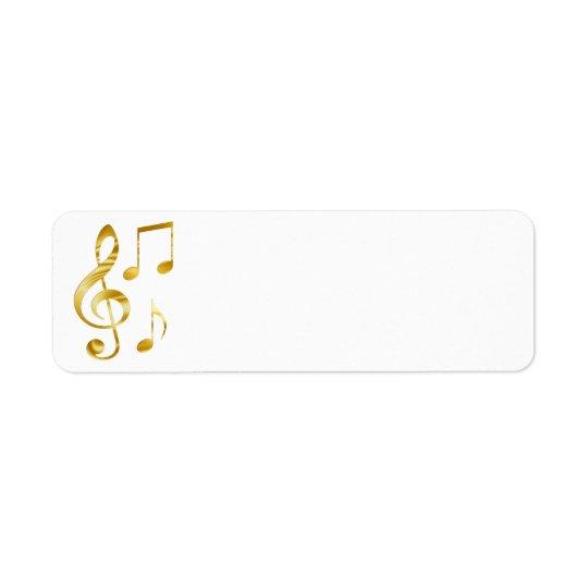 elegante goldene Clefmusik