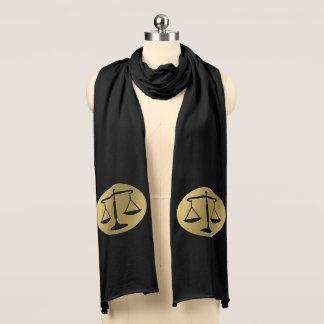 Elegante goldene Skalen des Gerechtigkeitssymbols Schal