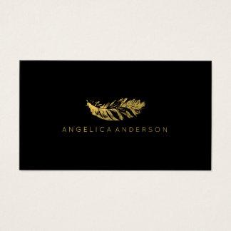 Elegante Goldfeder-Visitenkarte Visitenkarten