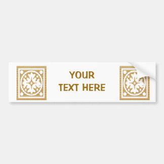 Elegante GoldFOIL Juwelen - addieren Sie Ihren GOL Autoaufkleber