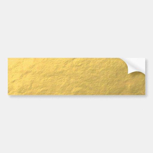 Elegante Goldfolie gedruckt Auto Sticker