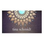 Elegante Goldfolie Verziert Blatt Mandala Holz Visitenkartenvorlagen