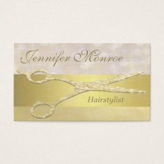 Elegante Goldhairstylist-Verabredungs-Erinnerung Visitenkarte