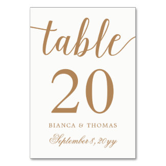Elegante GoldKalligraphie-Hochzeit Karte
