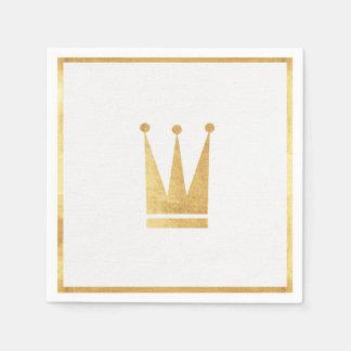 Elegante Goldkronen-Servietten Papierserviette