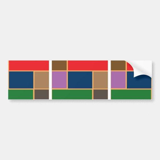 Elegante Goldlinie Grenze der Farbcollagen-n Auto Sticker