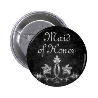 Elegante gotische dunkle Romanze Hochzeit Runder Button 5,7 Cm