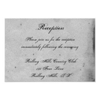 Elegante gotische Schläger-Spitze-Posh 8,9 X 12,7 Cm Einladungskarte