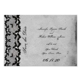 Elegante gotische Schläger-Spitze Posh Wedding 8,9 X 12,7 Cm Einladungskarte
