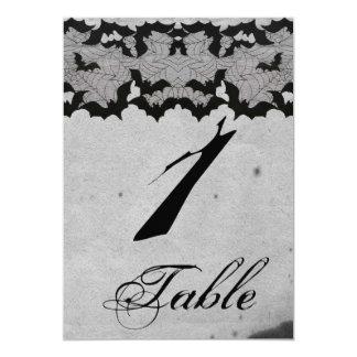Elegante gotische Schläger-Spitze-Posh Wedding 12,7 X 17,8 Cm Einladungskarte