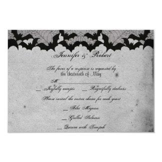 Elegante gotische Schläger-Spitze-vornehme 8,9 X 12,7 Cm Einladungskarte