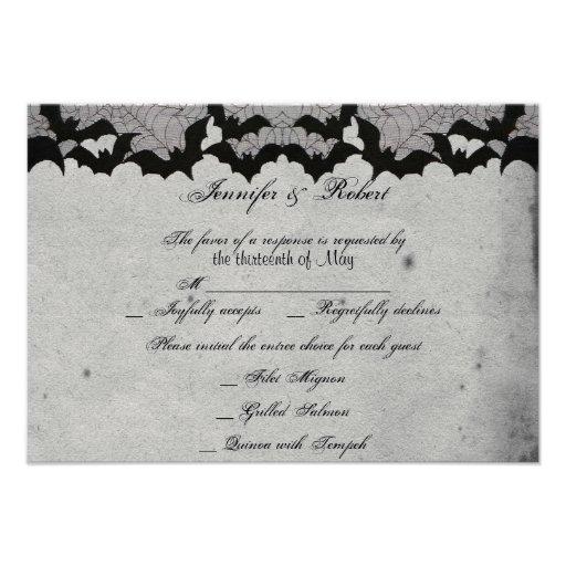 Elegante gotische Schläger-Spitze-vornehme Individuelle Einladungskarte