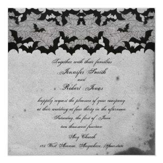 Elegante gotische Schläger-Spitze-vornehme Quadratische 13,3 Cm Einladungskarte