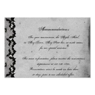 Elegante gotische Schläger-Spitze-vornehmer 8,9 X 12,7 Cm Einladungskarte