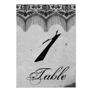 Elegante gotische Spitze-Posh Wedding Tischnummer 12,7 X 17,8 Cm Einladungskarte