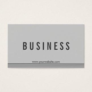 Elegante graue Kampfkunst-Visitenkarte Visitenkarte