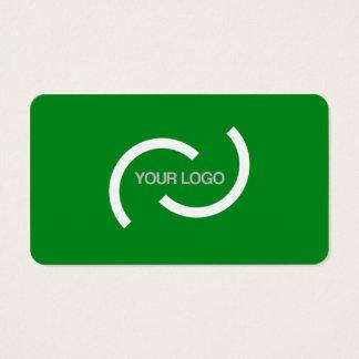 Elegante Green Card. Fertigen Sie mit Ihrem Visitenkarte
