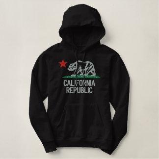 Elegante große Kalifornien-Republik-Stickerei Hoodie