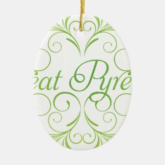 Elegante große Pyrenäen Keramik Ornament