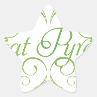Elegante große Pyrenäen Stern-Aufkleber
