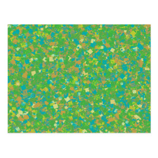Elegante grüne Confetti SCHABLONE addieren Postkarte