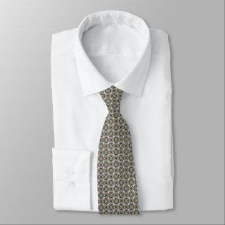 Elegante grüne und rote Krawatte