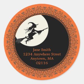 Elegante Halloween-Aufkleber Runder Aufkleber