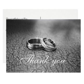 Elegante handgeschriebene Hochzeit danken Ihnen Karte