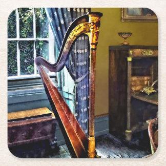 Elegante Harfe Rechteckiger Pappuntersetzer