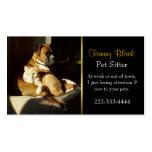 Elegante Haustierpflege-Visitenkarte