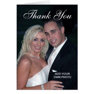 Elegante Hochzeit danken Ihnen Foto-Karten Mitteilungskarte