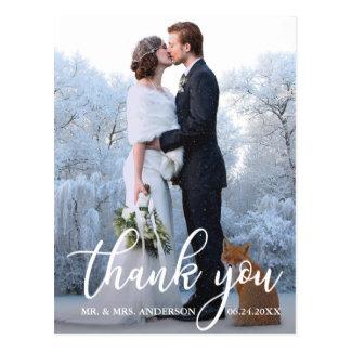 Elegante Hochzeit danken Ihnen Postkarte