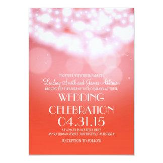 Elegante Hochzeit des Schnurlicht-Rosas lädt ein 12,7 X 17,8 Cm Einladungskarte