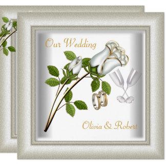 Elegante Hochzeit lädt ein Karte