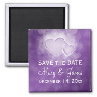Elegante Hochzeit Save the Date moderne Herzen P Magnets