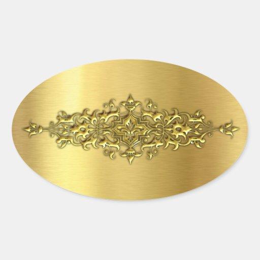Elegante Hochzeits-Aufkleber, Gold