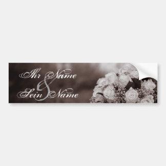 Elegante Hochzeits-Einladungen 12 Autoaufkleber