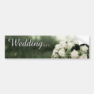 Elegante Hochzeits-Einladungen Autosticker