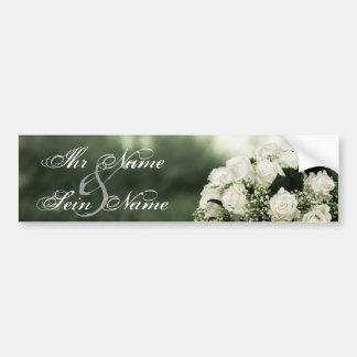 Elegante Hochzeits-Einladungen Autoaufkleber