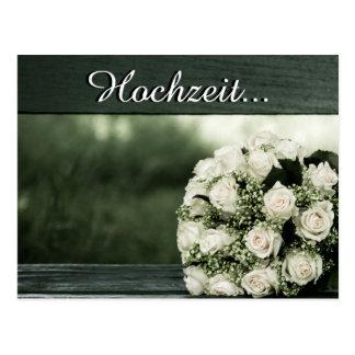Elegante Hochzeits-Einladungen Postkarten