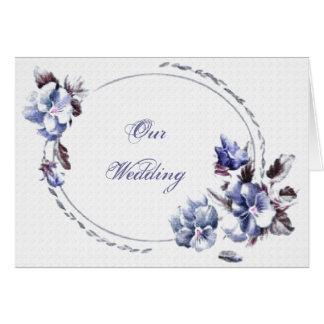 Elegante Hochzeits-Einladungs-Karte Grußkarte