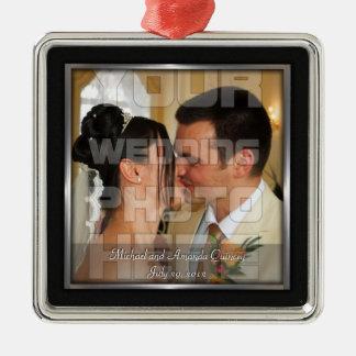 Elegante Hochzeits-Foto-Verzierung Silbernes Ornament