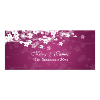 Elegante Hochzeits-Kirschblüten-Pflaume Individuelle Einladungskarten