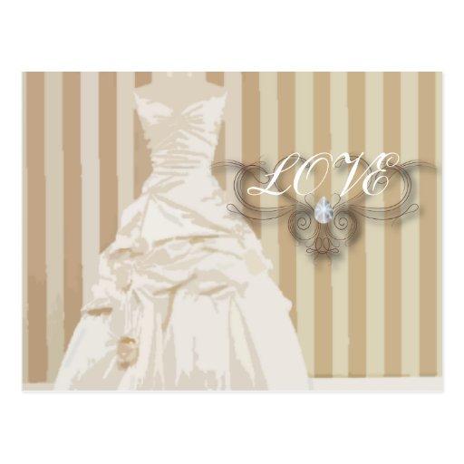 Elegante Hochzeits-KleiderGastgeschenk Hochzeit Postkarten