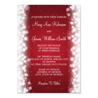 Elegante Hochzeits-magisches Schein-Rot 12,7 X 17,8 Cm Einladungskarte