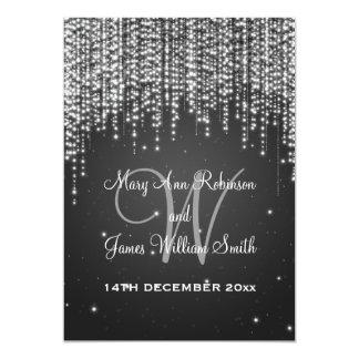 Elegante Hochzeits-Nacht blenden Schwarzes 12,7 X 17,8 Cm Einladungskarte