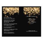Elegante Hochzeits-Programm-Goldlichter Vollfarbige Flyer