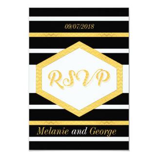 Elegante Hochzeits-Schwarz-Gold-UAWG Karte mit