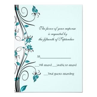 Elegante Hochzeits-Wartekarte 10,8 X 14 Cm Einladungskarte